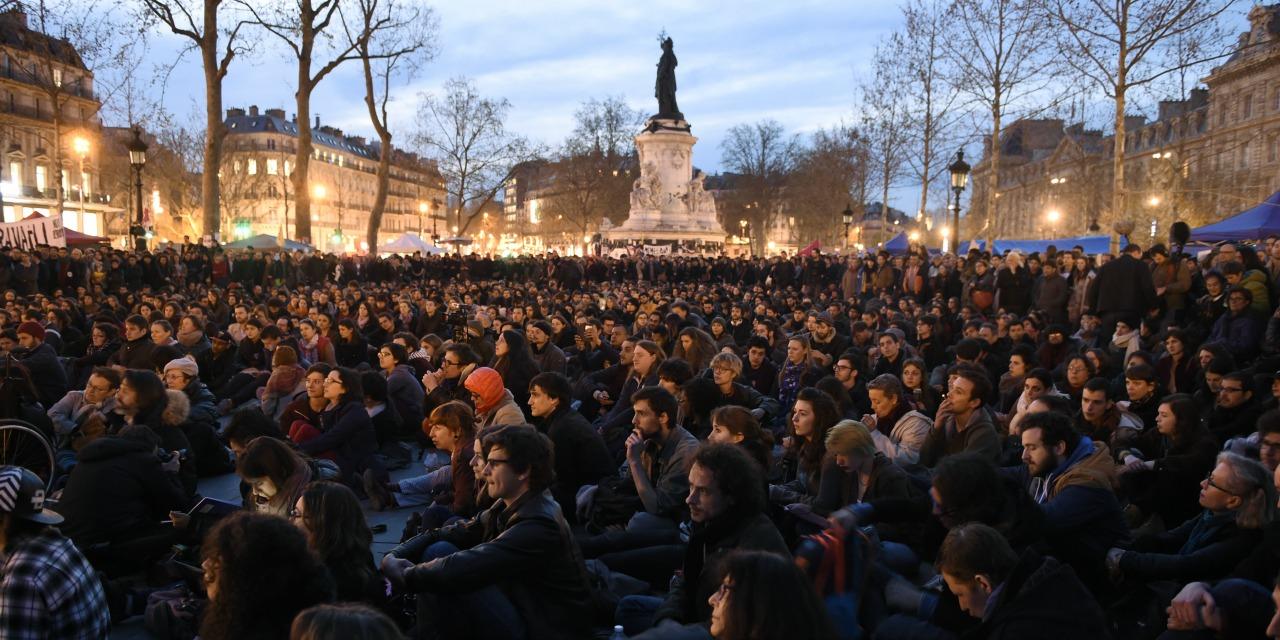Nuit Debout в Париже, апрель 2016
